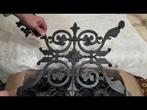 Декоративные элементы из полипропилена на могильную оградку