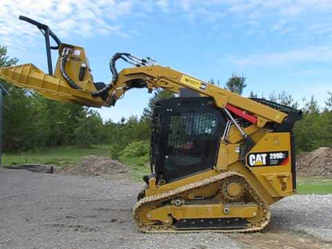 CAT 299D2 equipped with Forestry Package from Heavy Equipment Armor