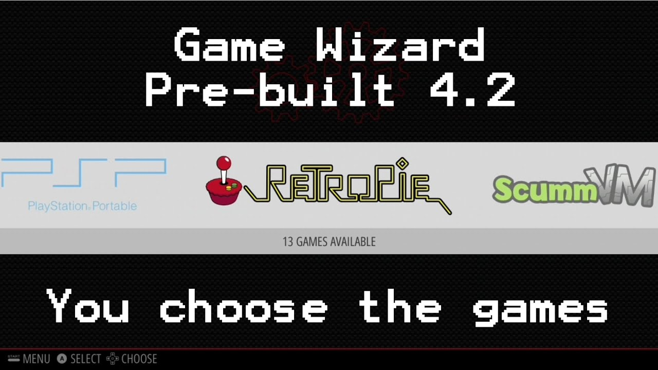 Game Wizard Retropie Image – You Pick the Size – Custom