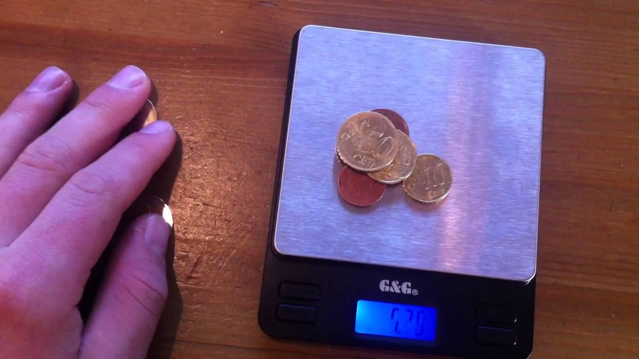 Messgenauigkeit An Feinwaage überprüfen Mit Münzen Youtube
