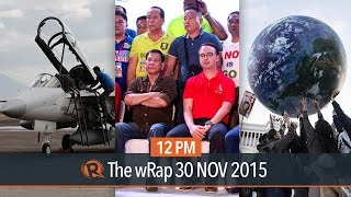 Duterte-Cayetano 2016, fighter jets arrive, COP21 | 12PM wRap