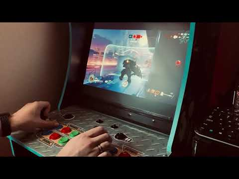 Overwatch - Gaming on my Arcade1up! from Jonny202003