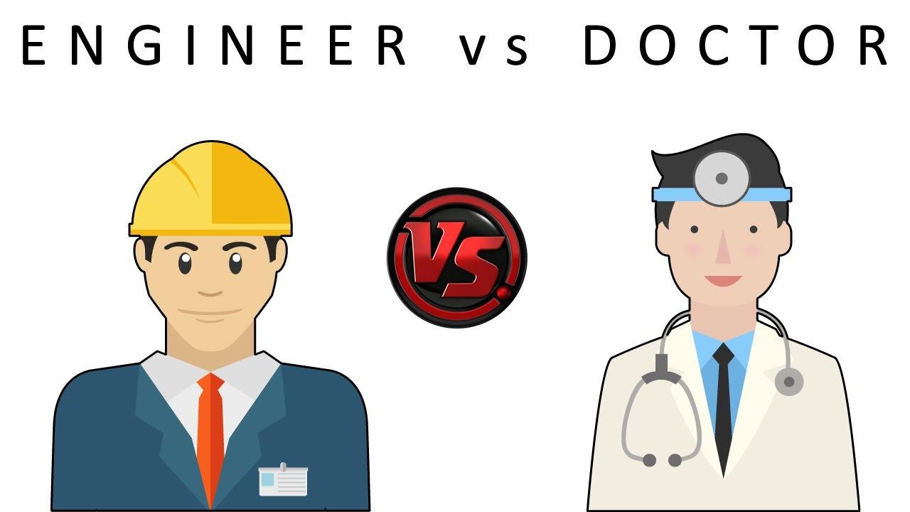 Kết quả hình ảnh cho engineer vs doctor