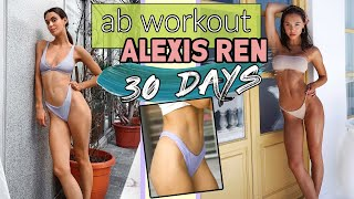 I tried Alexis Ren's AB Workout for 30 DAYS!!