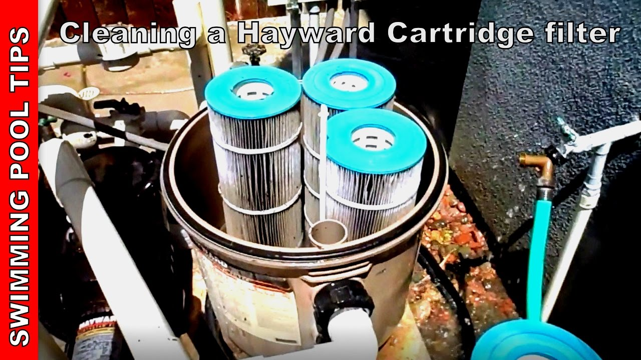 Cleaning A Hayward Swimclear Cartridge Filter Youtube