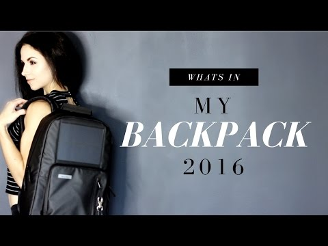 WHATS IN MY BACKPACK! | School + Work Essentials 2016