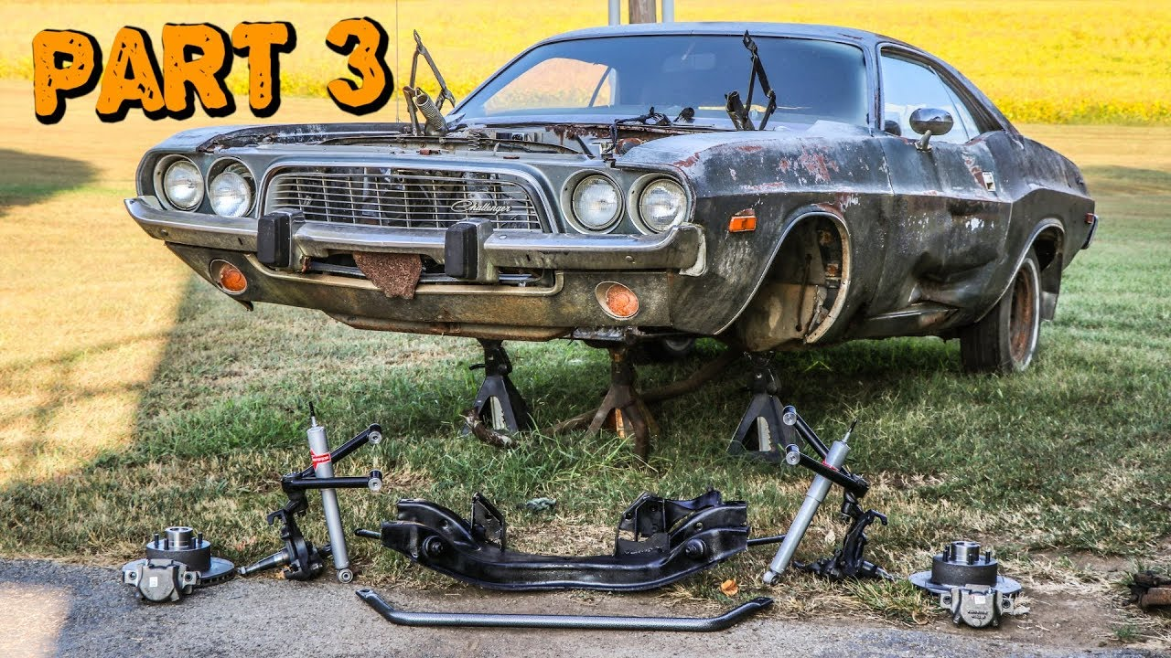 ABANDONED Dodge Challenger Rescued After 35 Years Part 3: Suspension Rebuild