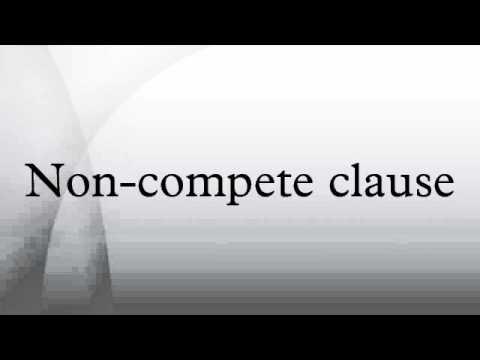 non compete clause