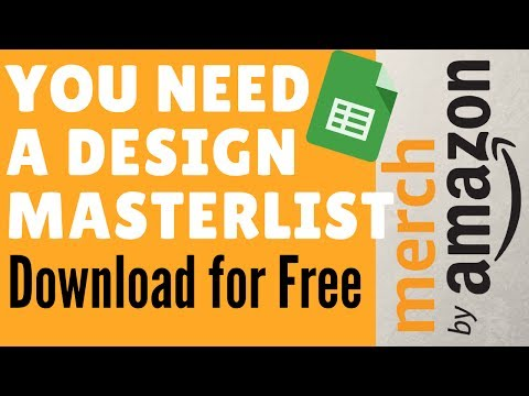 Merch by Amazon Why you need a Design Masterlist for your print on Demand business
