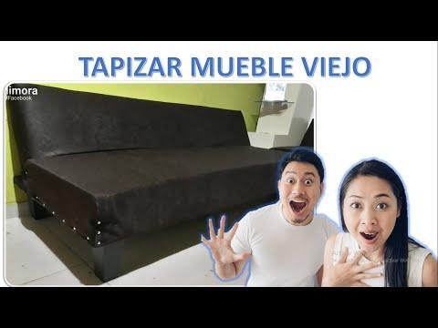 TAPIZAR MUEBLE VIEJO EN CASA - FÁCIL TUTORIAL