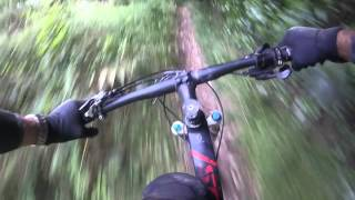 Wipe out on trig downhill, Levin. NZ