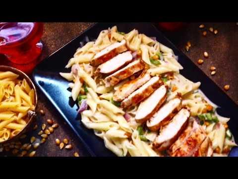 White Sauce Pasta With Smoked Chicken