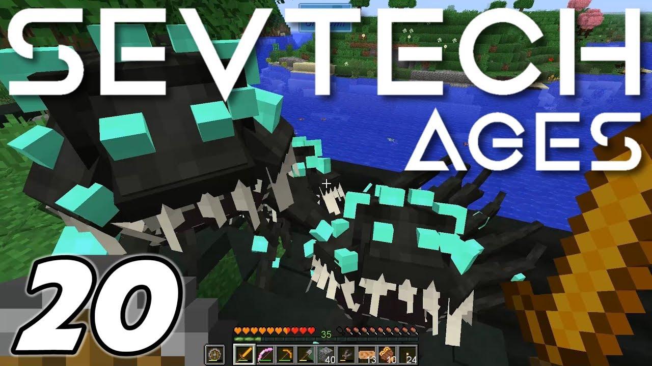 Minecraft Sevtech: Ages - RAIDING A SHOGGOTH LAIR (Modded Survival) - Ep  20