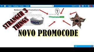 ROBLOX - Novo Promocode - STRANGER THINGS 3