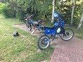 Yamaha DT 80 z silnikiem WSK 175 oraz Kawasaki KMX 125