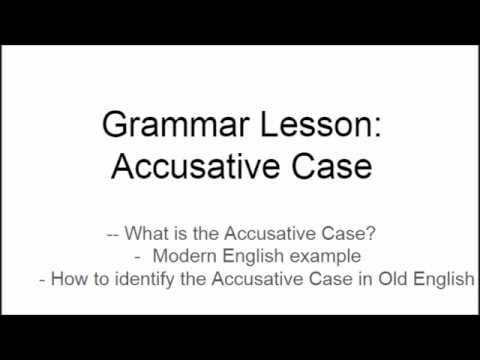 Grammar Lesson: Accusative Case