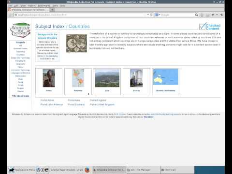 wikipedia for schools made searchable