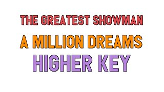 Million dreams karaoke female key video