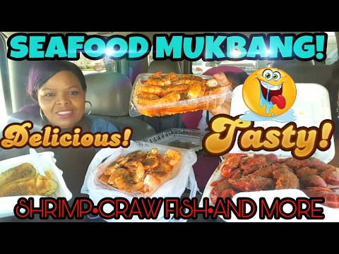 SEAFOOD MUKBANG ♡ CRAWFISH •SHRIMPS• AND MORE.. (EATING SHOW)