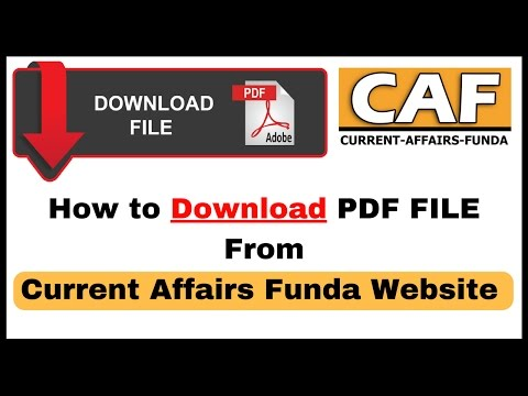 How to Download PDF File from Current Affairs Funda Website | Channel Update