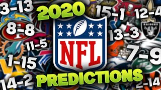 2020 NFL Win-Loss Predictions For All 32 Teams (Final Edition)
