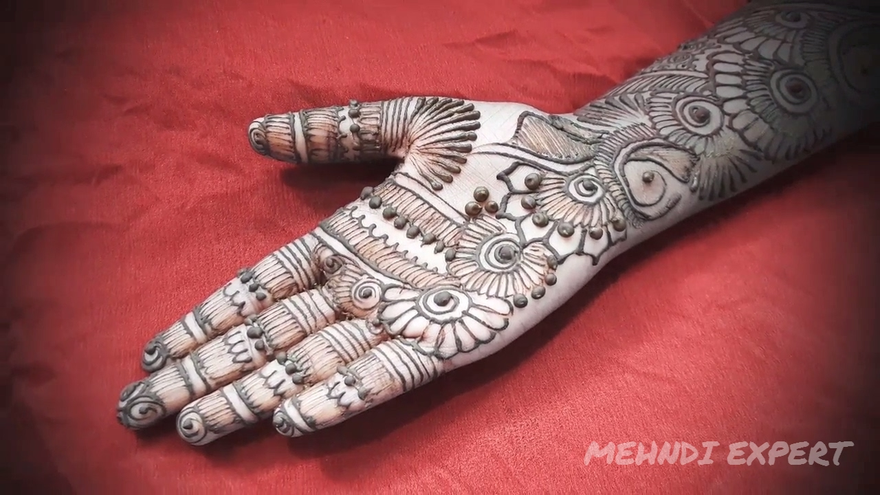 Fusion Of Arabic And Full Hand Mehndi Designs For Hands Easy