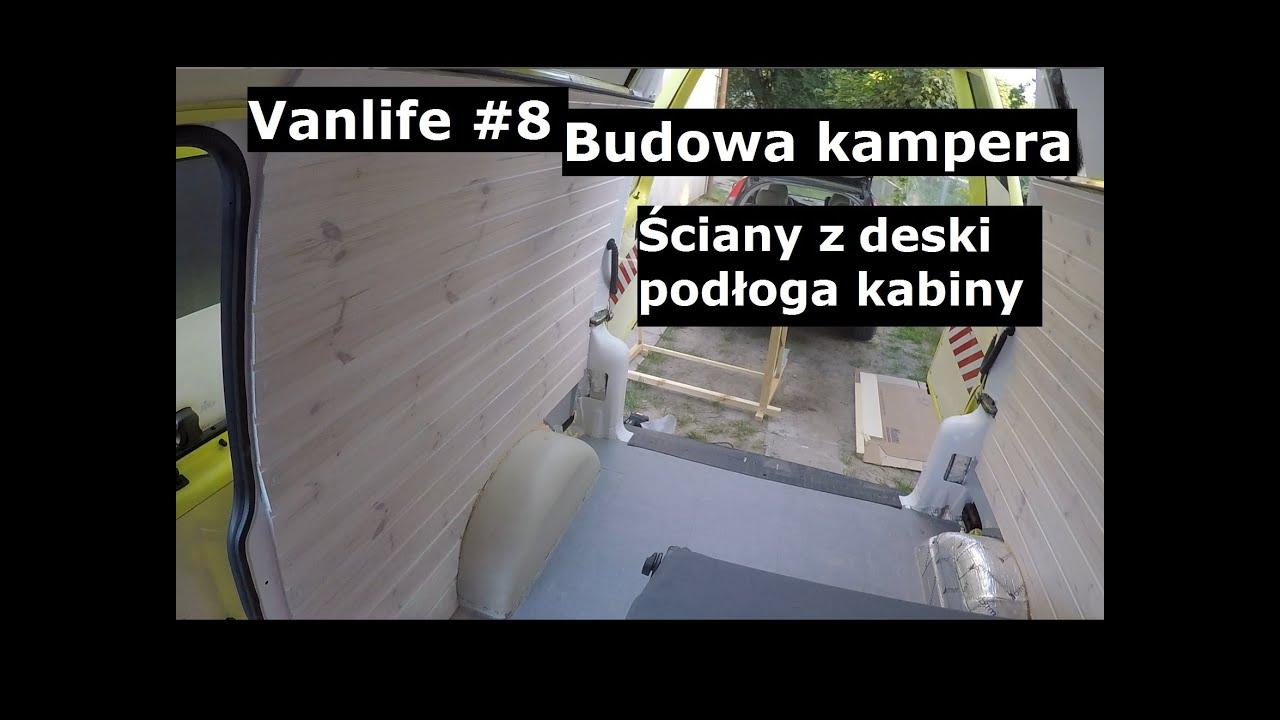 VanLife#8 - Buduję kampera z karetki - ściany z deski, podłoga kabiny