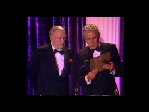 Frank Sinatra Receives the Will Rogers award from Beverly Hills