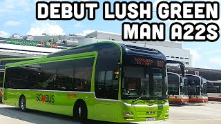 smrt lush green man a22s on the move
