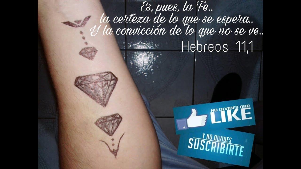 Como Hacer Un Tatuaje Falso Con Lapicero Diamantes Youtube