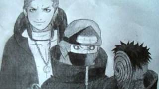 Drawing Hidan, Kakuzu, and Tobi