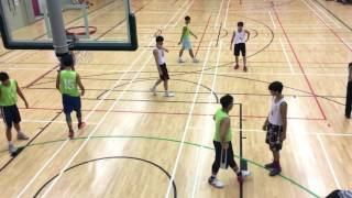 全港學界籃球馬拉松(文理V.S.彩天)第一節