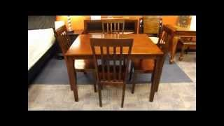 Red Cherry Mission Style Dining Room Table San Tan Furniture In Mesa