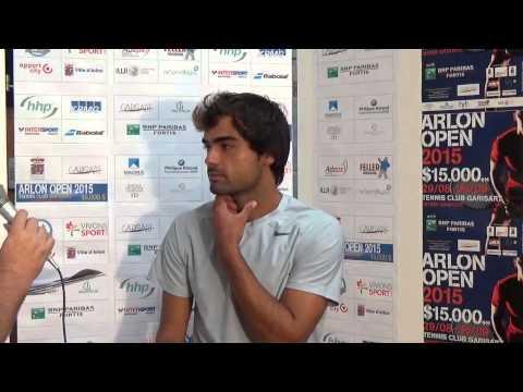 Arlon Open 2015 : Interview de Frederico Ferreira Silva