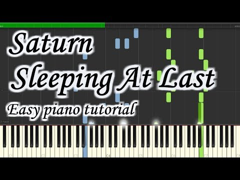 Saturn - Sleeping At Last - Very Easy And Simple Piano Tutorial Synthesia Planetcover