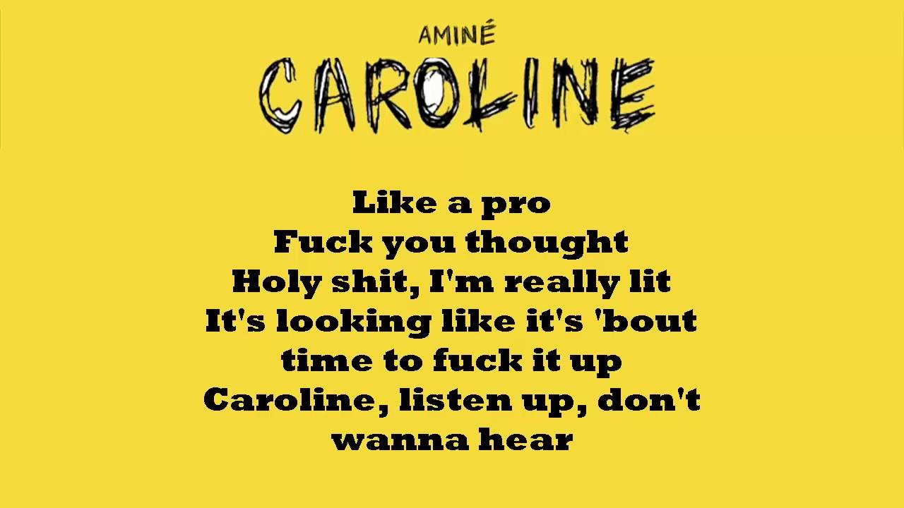 Aminé- Caroline (LYRICS) // WITH DOWNLOAD - YouTube