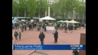 Global Cannabis March 2014 - Portland, Oregon - KOIN