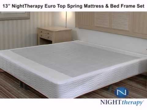 Night Therapy 13 Euro Top Spring Mattress BTBS with Storage