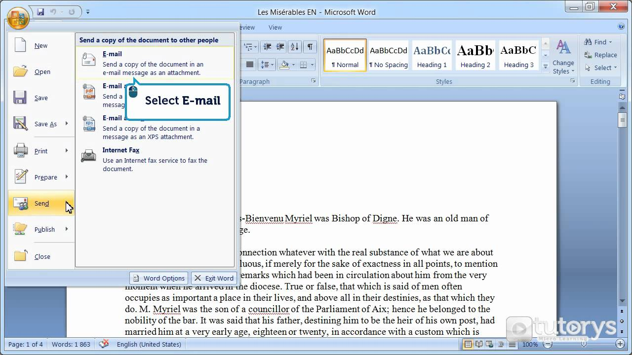 How To Send A Document Via Email With Word 2007?   YouTube  How To Do A Resume On Microsoft Word 2007