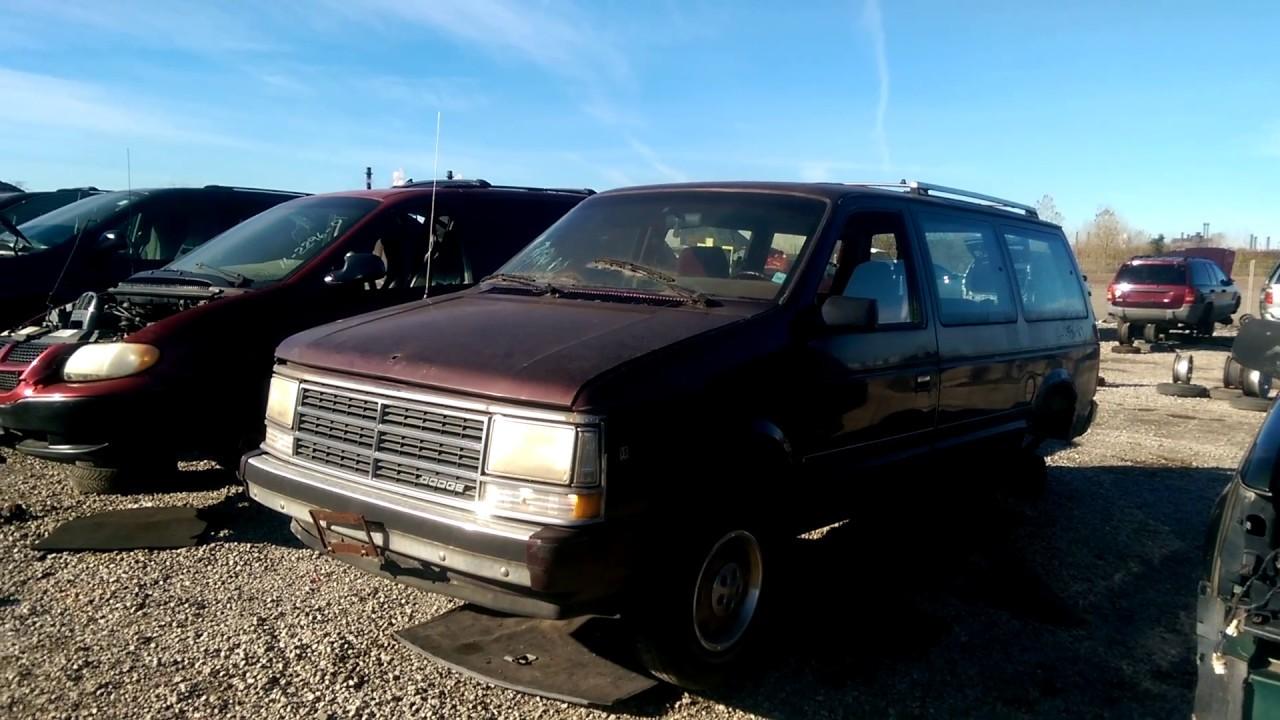 dodge grand caravan junkyards Late 1s Dodge Grand Caravan in the Junk Yard