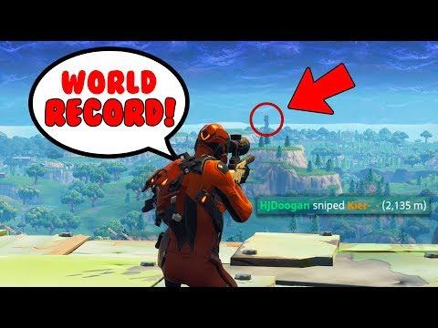 2,135m snipe in Fortnite... 😱(World Record)