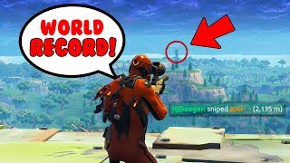 2,135m snipe in Fortnite... 😱(World Record)