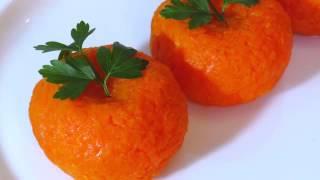Апельсины из теста с морковкаю