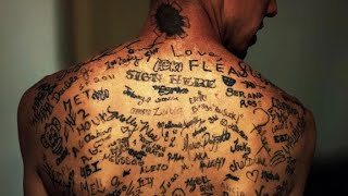 Back tattoo world record filled with celebrity signatures
