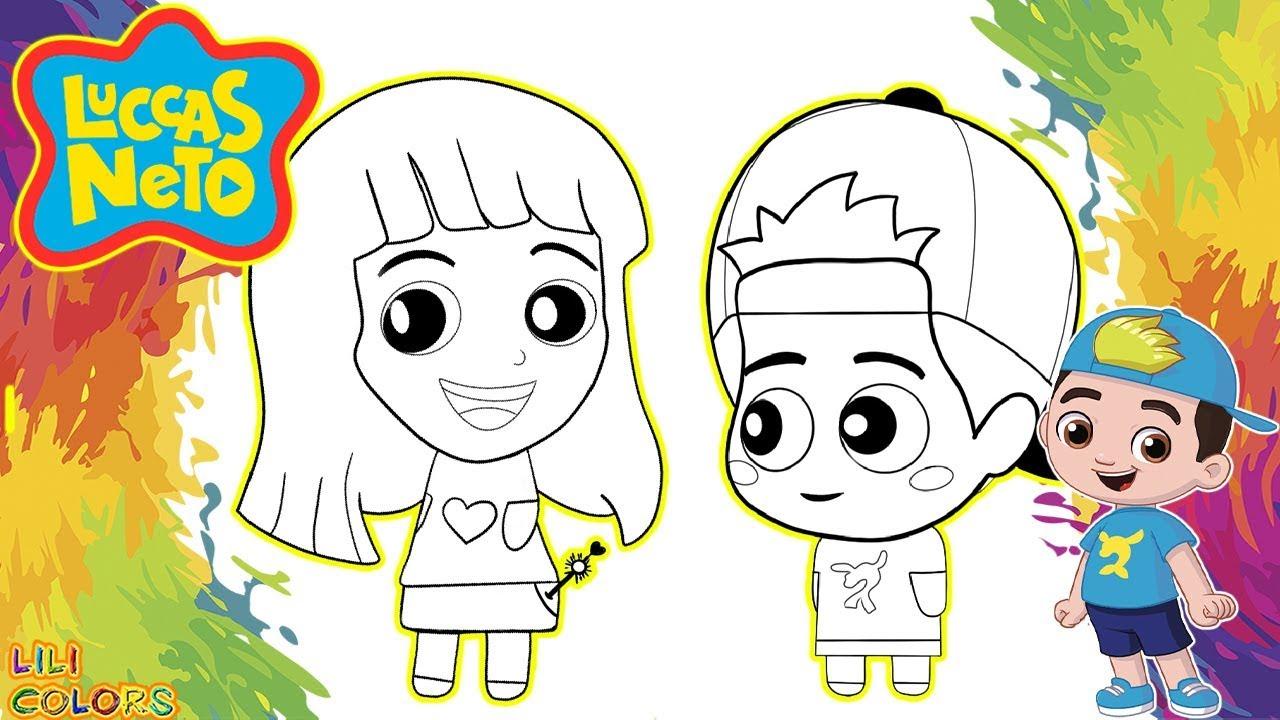 Colorindo Luccas Neto Os Aventureiros Desenho De Pintar Desenho Infantil Para Criança Em Portugues