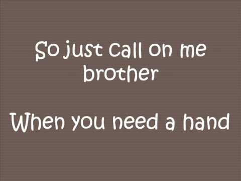 Lean On Me- Bill Withers (Lyrics)