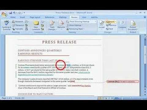 how to make tracked changes in word