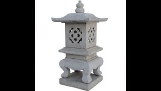 Elegant Japanese Pagoda Garden Marble Stone Garden Lantern Wk2551