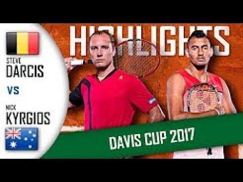 STEVE DARCIS vs NICK KYRGIOS (9/16/2017) Highlights ATP Davis Cup 2017