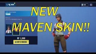 **NEW** MAVEN SKIN! FIRST TIME EVER! FORTNITE ITEM SHOP JAN 5, 2019